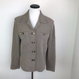 St. John Collection Brown Blazer size 10